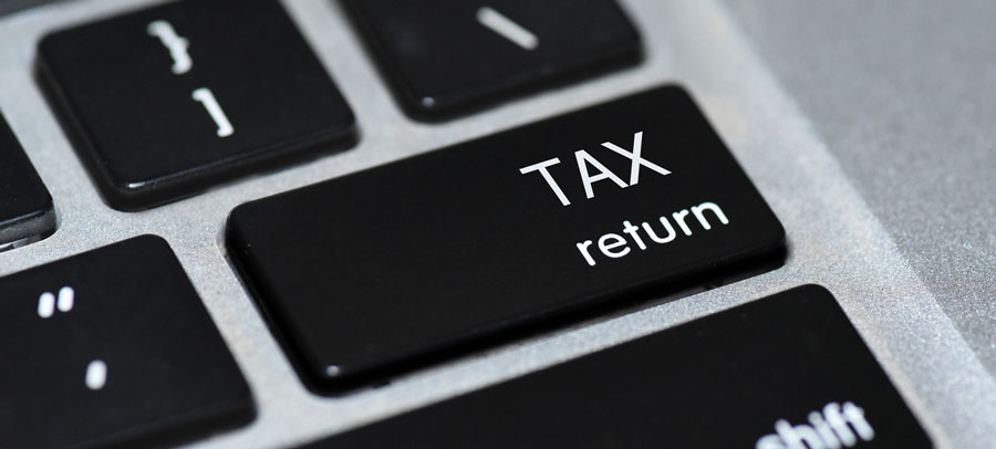 Keyword with a Tax return button